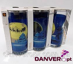 Набор стаканов CRISTMAS MOON стеклянные высокие 270 мл 6 шт, купить оптом со склада Одесса 7км