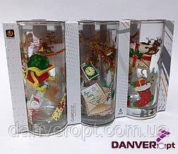 Набор стаканов SANTA MAIL стеклянные высокие 270 мл 6 шт, купить оптом со склада Одесса 7км