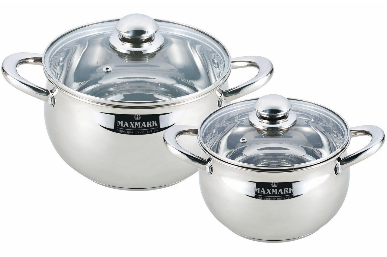Набор посуды нержавеющий Maxmark - 2 шт. (2 x 4 л) MK-APP7504B