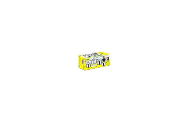 Набор посуды нержавеющий Maestro - 2 x 3 x 4 л x 1,5 л + подставка (4 шт.) MR-2021, фото 2