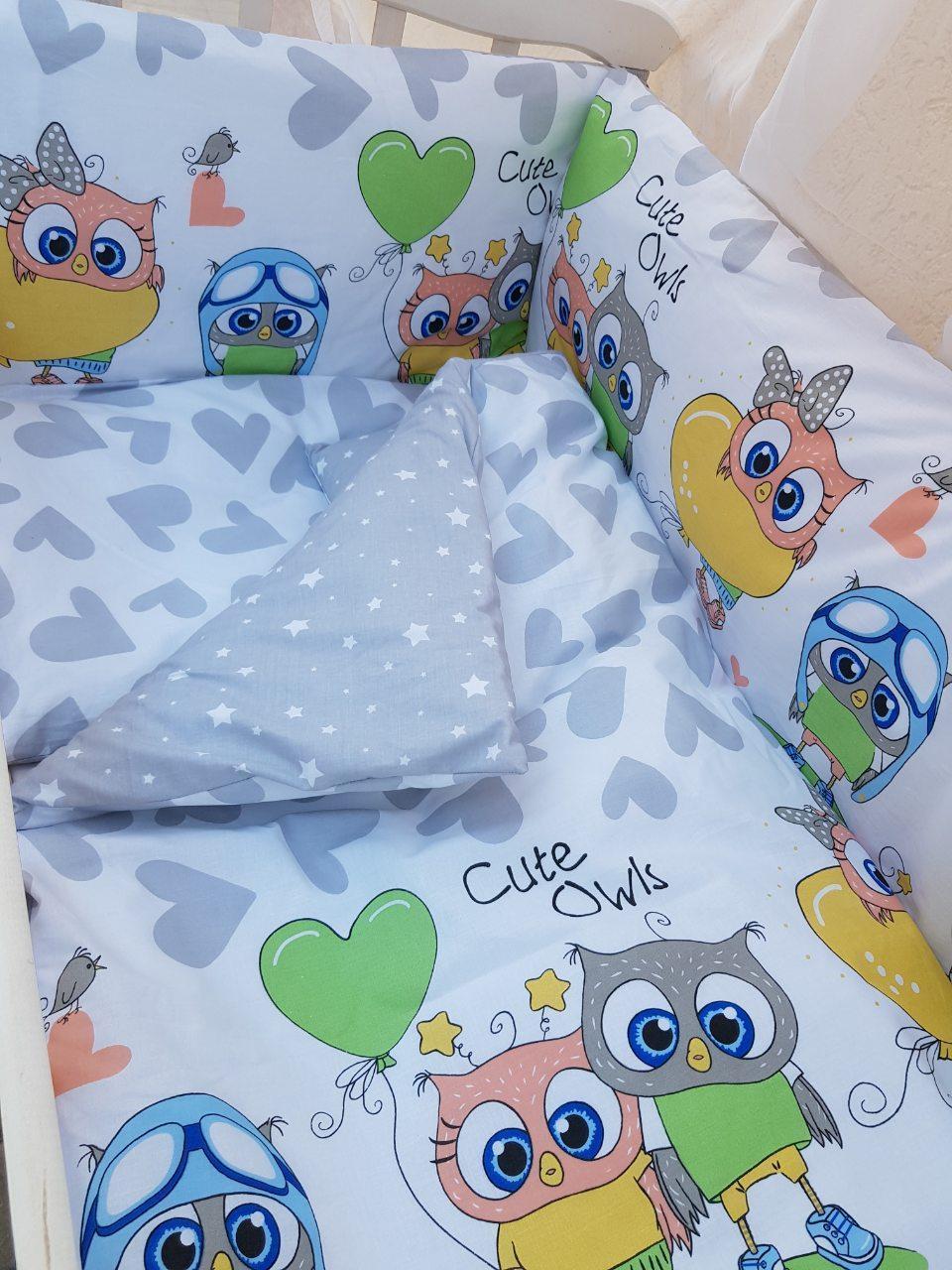 Детское постельное бельё в кроватку ТМ Bonna купон Серое