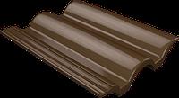 Цементно-песчаная натуральная черепица Ondo коричневый