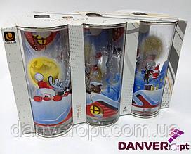 Набор стаканов SANTA & RUDOLF стеклянные высокие 270 мл 6 шт, купить оптом со склада Одесса 7км