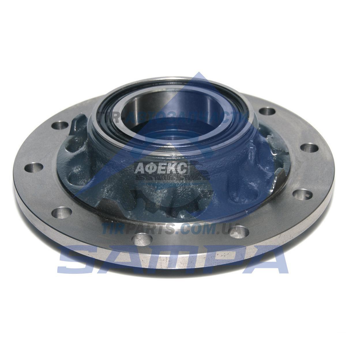 Ступица колеса c ABS SKRS9042 в сборе с подшипниками + сальники H=124mm/D=385mm SAF/SCHMITZ 12T (3307300600  