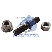 Шпилька колеса в сборе SAF / BPW (М22х1,5х+М22х1,5мм L-112мм, под две гайки, двухскатная ошиповка) (3302104000