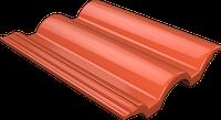 Цементно-песчаная натуральная черепица Ondo красный