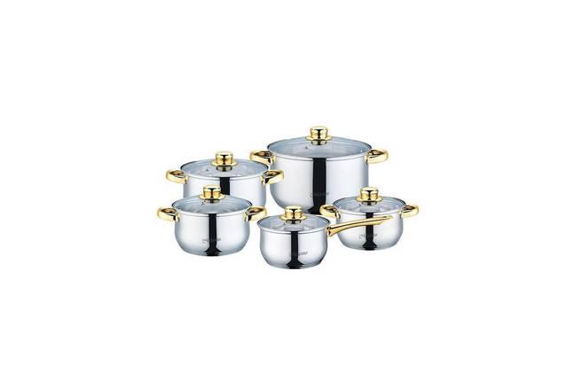 Набор посуды нержавеющий Maestro - 1,5 x 2 x 3 x 5 x 1,5 л (5 шт.) MR-2006-10, фото 2