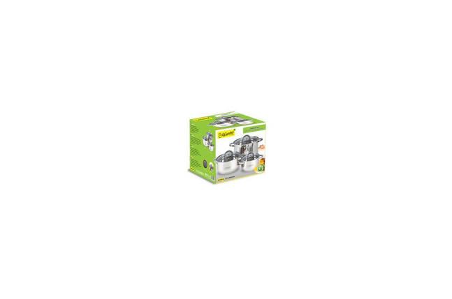 Набор посуды нержавеющий Maestro - 1,5 x 3 x 5 л (3 шт.) MR-2120-6L, фото 2