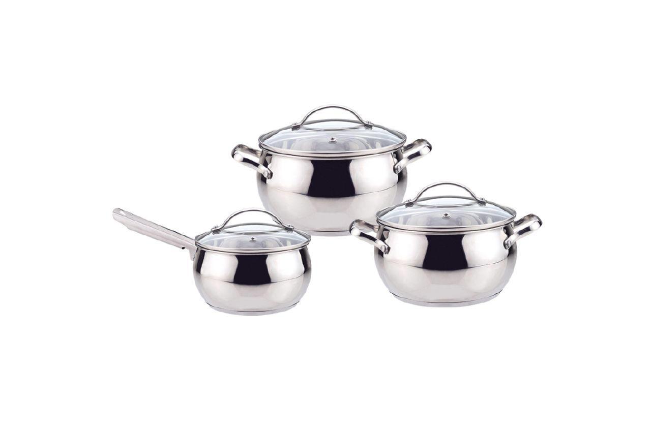 Набор посуды нержавеющий Maestro - 4 x 5 x 1,5 л (3 шт.) MR-3501-6L