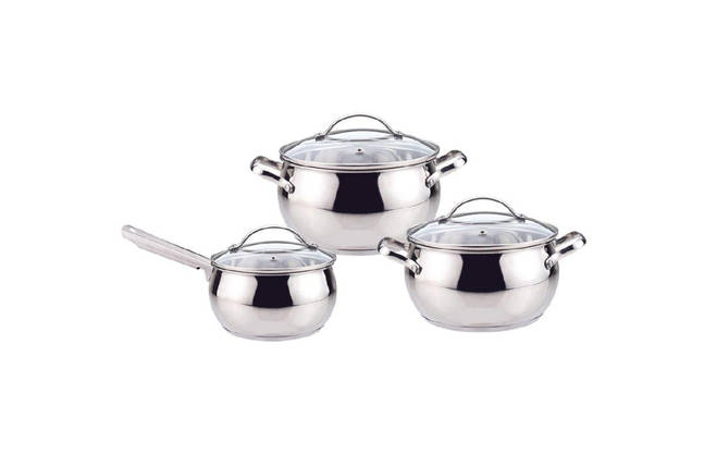 Набор посуды нержавеющий Maestro - 4 x 5 x 1,5 л (3 шт.) MR-3501-6L, фото 2