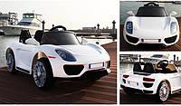 """Детский электромобиль Tilly """"Porsche"""" музыкальный T-7616 EVA WHITE с пультом управления"""