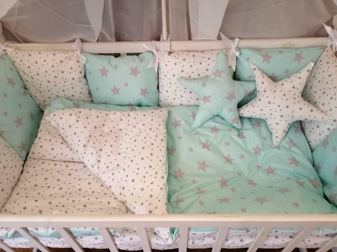 Детское постельное бельё в кроватку ТМ Bonna Перфект Мятное