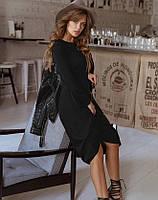 Женское трикотажное платье черный цвет