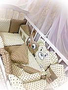 """Детский постельный набор в кроватку Bonna """"Лесные зверята"""" бежевый, фото 2"""