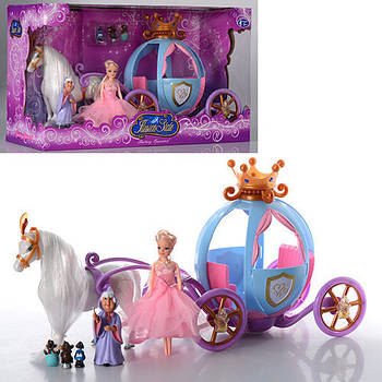 Карета 205 А с куклой, лошадью, звук, свет