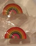 Брошь брошка значок металлический радуга на кнопке, фото 2