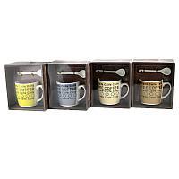 Чашка с ложечкой в подарочной упаковке Coffee Caife