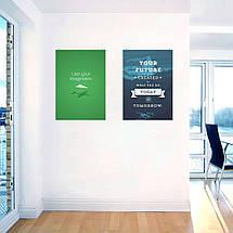 "Постер ""Use your imagination"". Мотивационный плакат, англ.. Размер 60x42см (A2). Глянцевая бумага, фото 2"