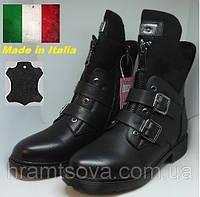 Женские зимние кожаные ботинки сапоги утепленные с мехом. Страна бренда-Италия., фото 1