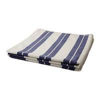 KALVSJÖN Банное полотенце, белый, синий, 70х140