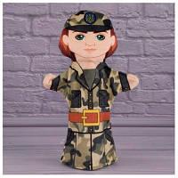 Детская игрушка Кукла на руку Военнослужащий 00654-7