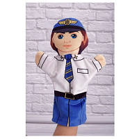 Детская игрушка Мягкая игрушка рукавичка Пилот 00654-8