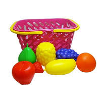 Детская игрушка Корзинка с фруктами 8 предметов KW-04-453