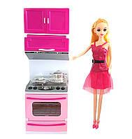 """Кукла с игрушечными мебелью """"Кухня"""""""