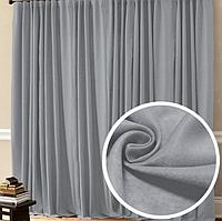 Комплект штор для спальни из турецкой ткани серого цвета