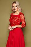 Платье коктейльное красное Тифани, фото 4