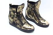 Женские зимние ботинки на скрытой танкетке ботинки Vensi V8, фото 2