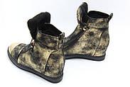 Женские зимние ботинки на скрытой танкетке ботинки Vensi V8, фото 3