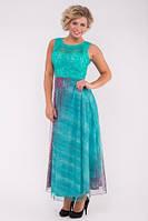Длинное платье мята №68