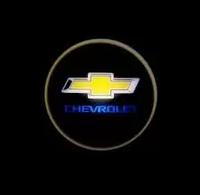 Проекция логотипа автомобиля Chevrolet