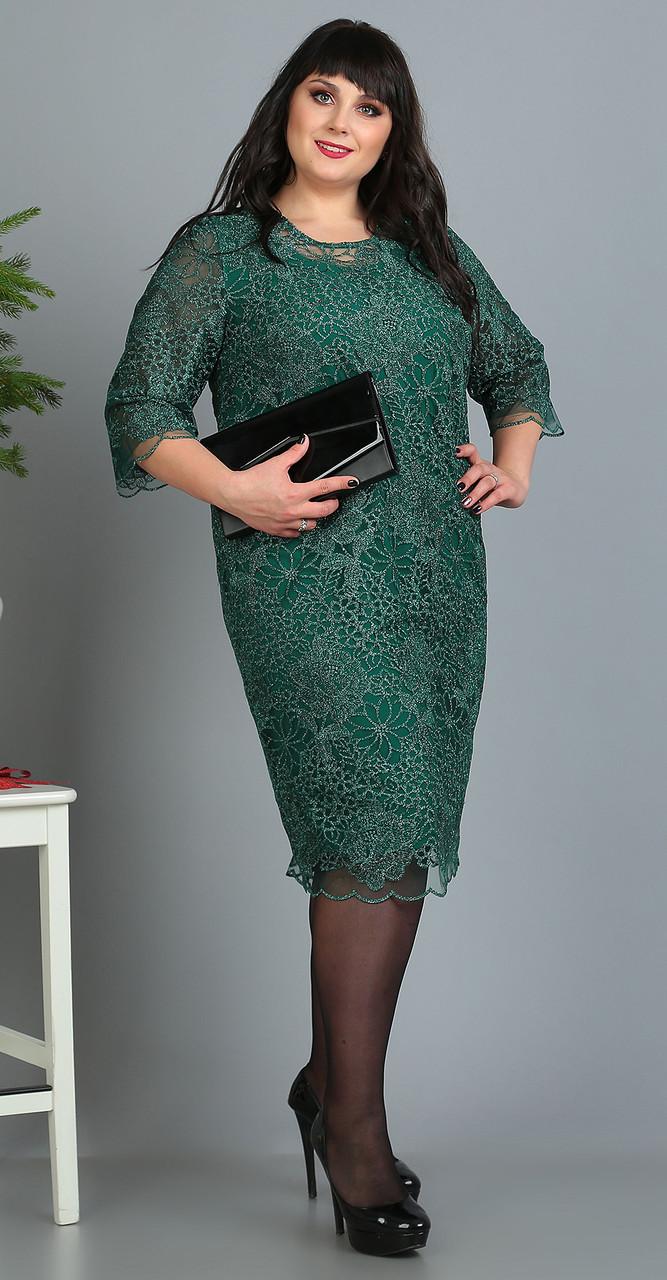 Платье Novella Sharm-3391 белорусский трикотаж, изумруд, 62