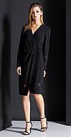 Платье Nova Line-5909 белорусский трикотаж, черный, 42
