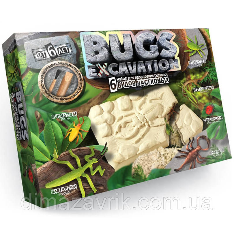 Раскопки: 6 видов насекомых. BUGS EXCAVATION