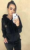 """Женский велюровый спортивный костюм """"Plush"""" с капюшоном (4 цвета), фото 2"""