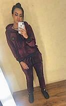 """Женский велюровый спортивный костюм """"Plush"""" с капюшоном (4 цвета), фото 3"""