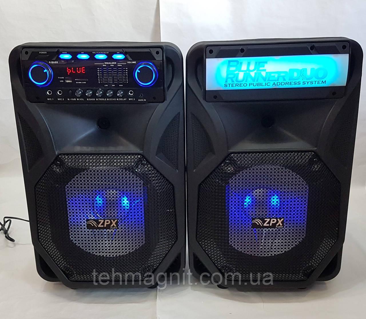 Активна акустика ZPX AUDIO 8899 X-BASS (250W/USB/BT/FM) комплект