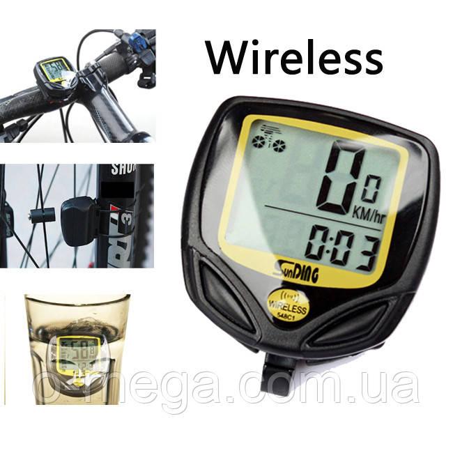 Велокомпьютер беспроводной SunDing SD-548C спидометр часы