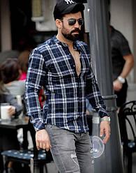 Рубашка мужская стильная в клетку