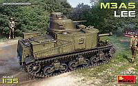 1:35 Сборная модель танка M3A5 'Lee', MiniArt 35279;[UA]:1:35 Сборная модель танка M3A5 'Lee', MiniArt 35279