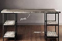 """Стол офисный """"Полермо"""", письменный стол, стол с натурального дерева на металлическом подстолье"""
