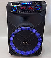 Колонка аккумуляторная с микрофоном ZPX 7766 200W (Bluetooth/USB/FM)