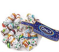 Новогодние конфеты Only Снеговики в сетке 100 гр Австрия