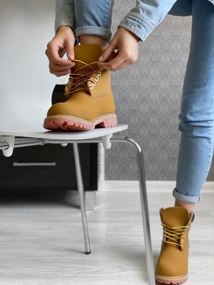 Ботинки мужские Timberland. Мужские термо ботинки.ТОП КАЧЕСТВО!!! Реплика класса люкс (ААА+)