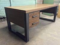 """Офисный стол """"Рона"""", стол письменный, стол для офиса, офисный деревянный стол, стол на металлическом подстолье"""