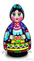 Украинская кукла средняя Казачка 10 см, фото 1