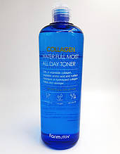Антивозрастной увлажняющий тонер с коллагеном Farmstay Collagen Water Full Moist All Day Toner, 500мл